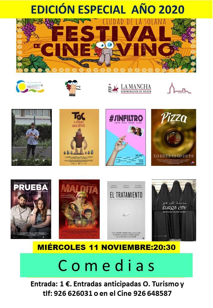CARTEL CORTOS 11 noviembre COMEDIA 2020