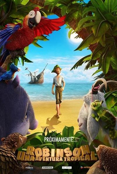 Cartel Robinson una aventura tropical