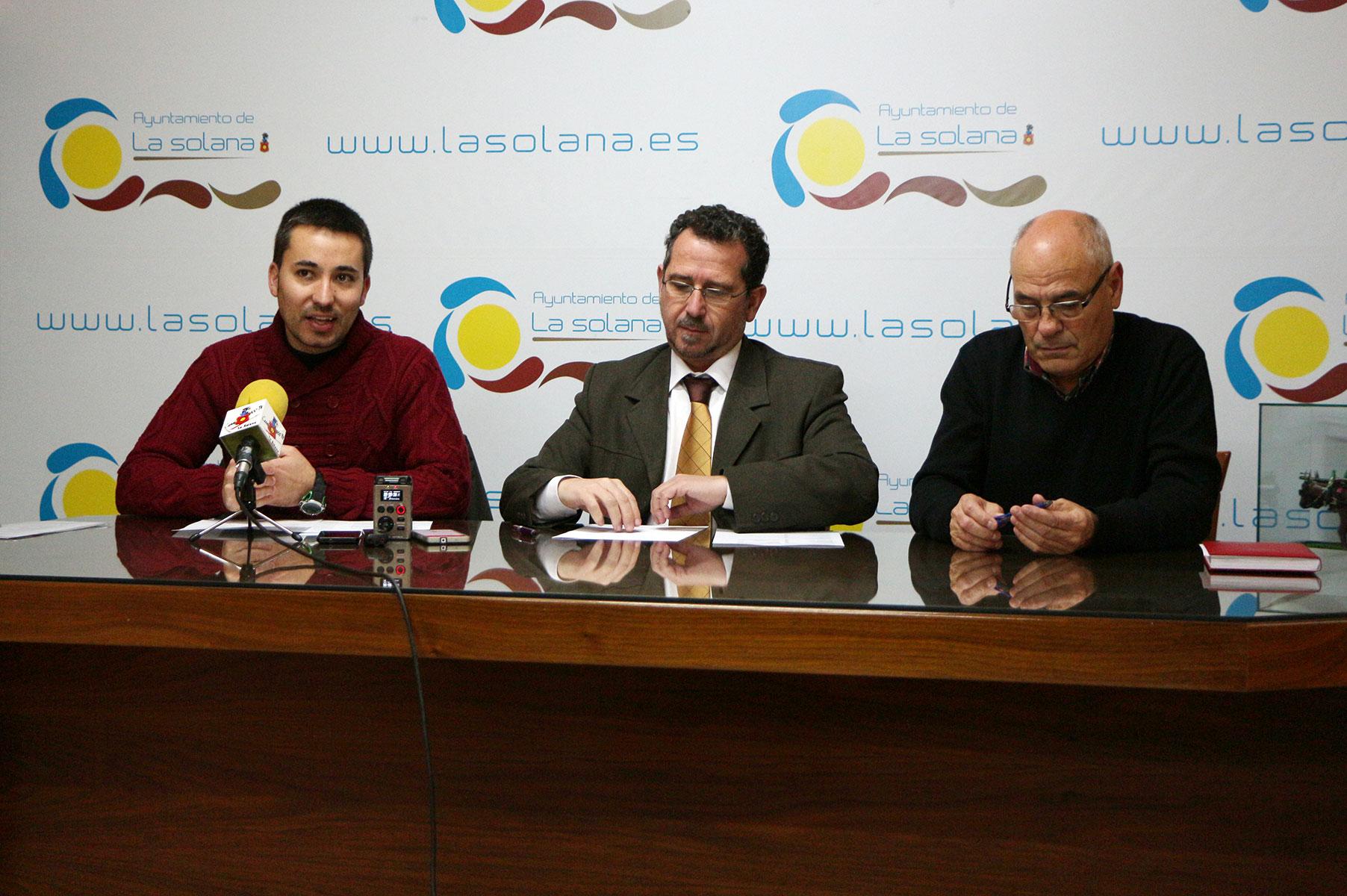 Juan Pedro Araque, Luis Díaz-Cacho y Luis  Romero de Avila