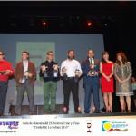 """Bodegueros tras recoger el premio """"Galán de Cine"""""""